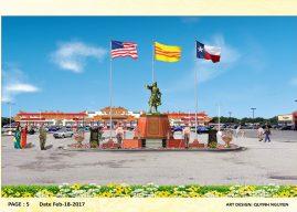 Lễ khởi công xây dựng tượng kỳ đài Đức Thánh Trần tại Bến Thành Plaza, Arlington, Texas