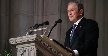 George W. Bush Delivers Passionate, Tearful Eulogy for His Father