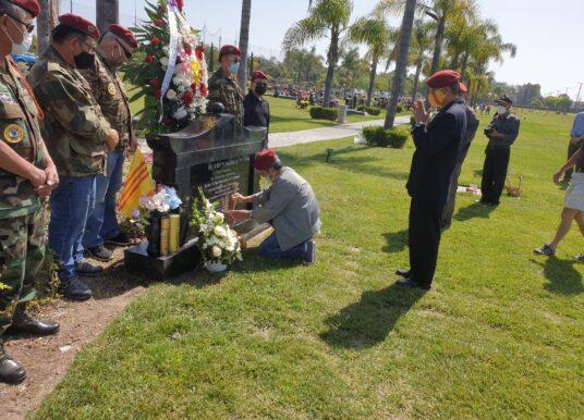 Little Saigon: Tưởng niệm Chiến Sĩ Trận Vong tại mộ 81 Anh Hùng Mũ Đỏ